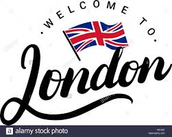 Welcome Flag Welcome To London Greeting Card London Hand Written Calligraphy