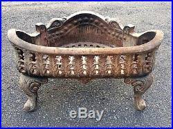 Fireplace Grate Cast Iron by Rare Form Basket Shaped Cast Iron Victorian Fireplace Grate