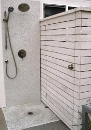 Outdoor Pool Showers - 30 outdoor shower design ideas showing beautiful tiled and stone walls