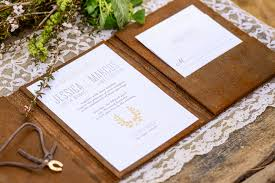 western wedding invitations leather wedding invitations uc918 info