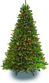 7 5 pre lit fraser fir artificial tree christmastrees