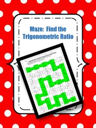 trigonometric ratios right triangles maze