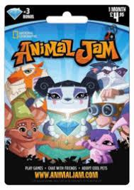 animaljam gift card buy animal jam 1 month subscription 4 95 free uk delivery