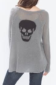 skull sweater wooden ships skull back sweater from massachusetts by sundance