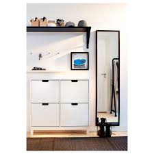 ställ shoe cabinet with 4 compartments white ikea