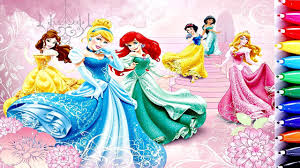 snow white coloring book disney princess ariel belle cinderella aurora jasmine snow white