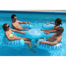 Turn your pool into an aquatic patio with this inflatable pool