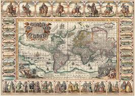 Ancient World Map by Puzzle Ancient World Map Art Puzzle 4711 2000 Pieces Jigsaw