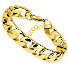 bracelet gold man stainless steel images Miami cuban chain bracelet men stainless steel gold curb chain jpg
