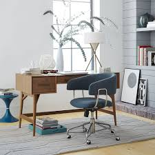 Mid Century Modern Office Desk Mid Century Desk Acorn West Elm