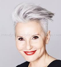 short hairstyles over 50 short modern hairstyle for gray hair