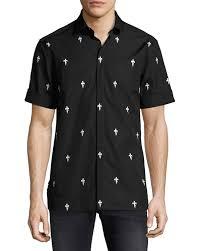 Fleur De Lis Home Decor Lafayette La Neil Barrett Fleur De Lis Lightning Bolt Short Sleeve Shirt Black