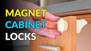 kitchen cupboard door child locks these baby proof cabinet locks use magnets to open and