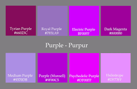 different colors of purple different color purples shades of purple color names home design
