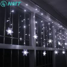 Led Snowflake Lights Outdoor by Holiday Lighting 3 5m 96 Led Snowflake Fairy Curtain Led String