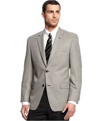 michael kors michael black and white houndstooth sport coat in