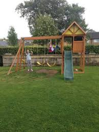 burghley climbing frame slide and swing set