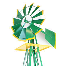 amazon com xtremepowerus 8ft green metal windmill yard garden