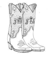 sketches for cowboy boot sketch www sketchesxo com