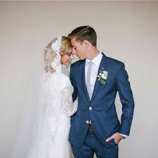 modest wedding dress with long lace sleeves modest bridal gown