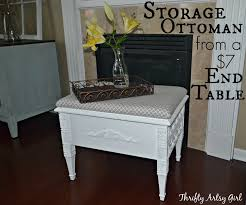 Artsy Home Decor by How To Make An Elegant Storage Ottoman With A Removable Cushion