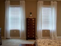 Curtains For Short Windows by Traditional Bedroom With Short Window Long Curtains And White