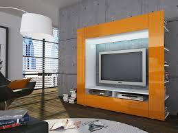 Wohnzimmerschrank Schwarz Wohnwand Anbauwand Medienwand Schrankwand Mediencenter Hochglanz