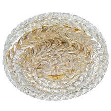 Glass Flush Mount Ceiling Light Palwa Gold Brass And Glass Flush Mount Ceiling Lamp Light Germany