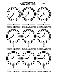 file tell time clock mins 5 at coloring pages for kids boys dotcom