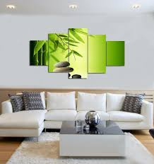 canvas painting modern wall art home decoration green bamboo