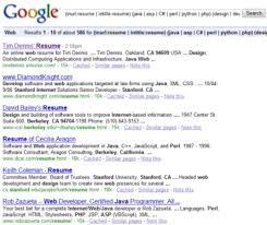 Search Online Resumes Resumes On The Internet Monster Vs Google Round 2 Boolean