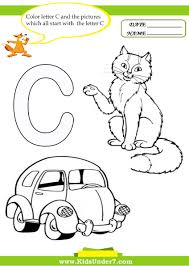kids under 7 letter с worksheets and coloring pages