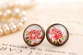 make stud earrings earrings glass stud earrings glass dome earrings