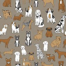 dog toile fabric google search must love dogs pinterest