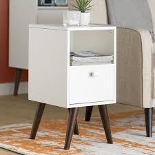 langley street carneal 1 drawer nightstand u0026 reviews wayfair