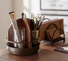 Office Accessories For Desk Printer S Home Office Desk Accessories Pottery Barn