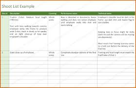 5 shot list template word authorizationletters org