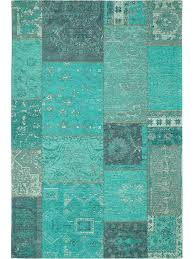teppich 300 x 400 benuta flachgewebe teppich frencie patchwork blau 80x165 cm