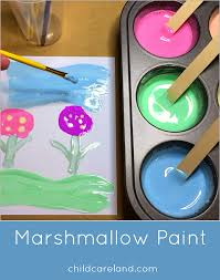marshmallow paint art center activity everyone loved making
