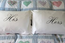his and hers pillow cases and hers pillowcase set
