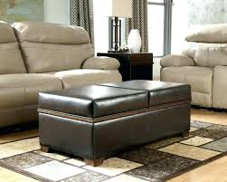 Leather Ottoman Cocktail Table Oversized Ottoman Coffee Table Coffee Tables Leather Top Coffee