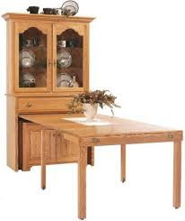 Dresser With Pull Out Desk Everett Pullout Console Table With Hutch Countryside Amish Furniture