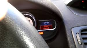 reset service light renault megane 3 youtube