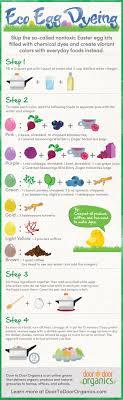eco easter eggs go eco when dyeing easter eggs infographic door to door organics