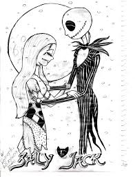 nightmare before christmas printable free coloring pages on art