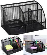 wire mesh desk organizer staples 27642 all in one silver wire mesh desk organizer ebay
