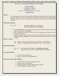 Fresher Teacher Resume Sample Resume Sle For Teaching 48 Images Teaching Resume Format Image