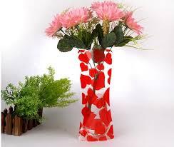 Modern Flower Vase Unique Reusable Flower Vases Unbreakable Folding Foldable Plastic