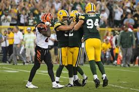 green bay packers bengals reacts