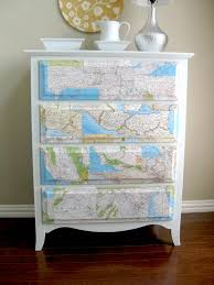 Make Your Own Map Make Your Own Map Dresser Map Projects Decoupage Dresser And